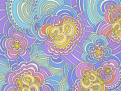 Drawing Meditation - Namaste (Rainbow) drawing meditation color rainbow design drawing cards illustration stars yoga pattern abstract