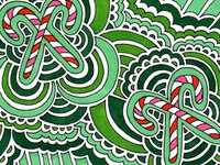 Drawing Meditation - Christmas Card Design #2 (2013)