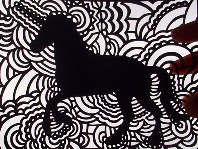 Drawing Meditation - Unicorn Stencil by Kaitlyn Parker on