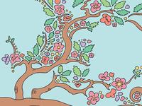 Cherry Blossom Drawing Meditation