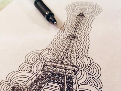 Eiffel tower drawing meditation by kaitlyn parker dribbble kpdesign dm eiffeltower 2014 inprogress thecheapjerseys Gallery