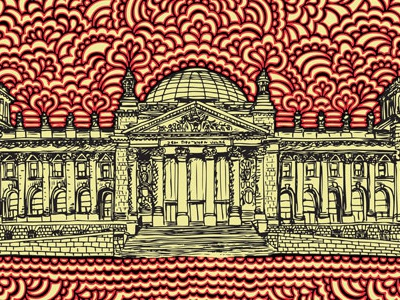 Reichstag Drawing Meditation (color versions)