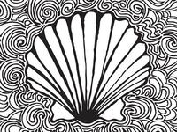 Scallop Shell Drawing Meditation
