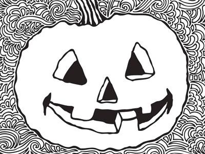 pumpkin drawing. kpdesign pumpkin drawing meditation