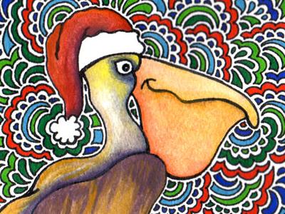 Christmas Pelican Drawing Meditation