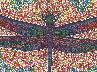 Dragonfly Drawing Meditation