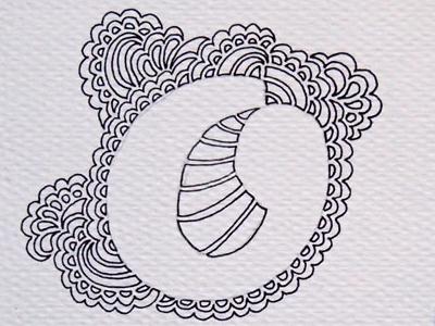 "My ""O"" my... ink pen art alphabet drawing illustration typography"