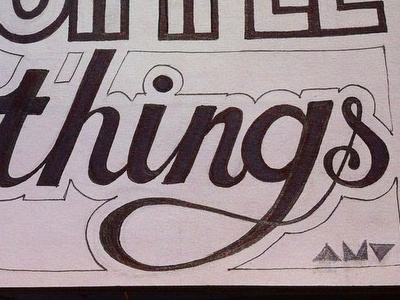 """Love the simple things"" wip sketchbook affirmation quote lettering typography"