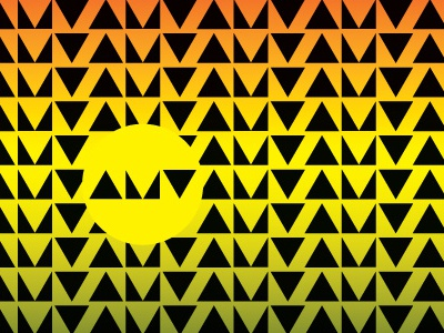 AMV Tribal Sunset tribal pattern lettering typography