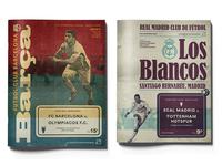 Retro inspired champions league program covers