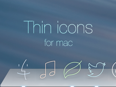 Thin icons for mac flat icons mavericks desktop line icons