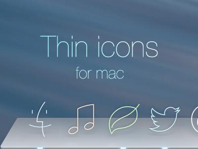 Thin icons for mac flat icons mavericks desktop line icons