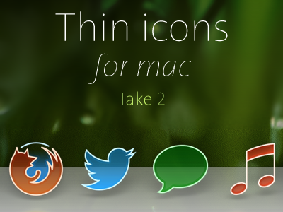 Thin icons for mac : Take 2 flat icons mavericks desktop line icons