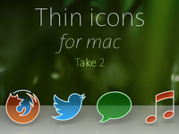 Thin icons for mac : Take 2