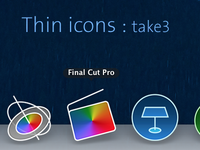 Thin icons for mac : take 3
