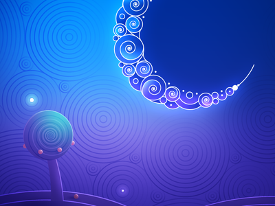 LunarBless (⬇︎Download the wallpaper) ramadan islam moon space purple desktop mobile