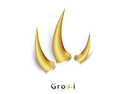 Growl Concept icon mac claw nail
