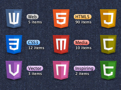 HTML5 Icons icons css typography mac desktop