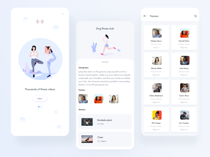 Fitness app workout mobile app workout tracker fitness club fitness app uiux ux mobile
