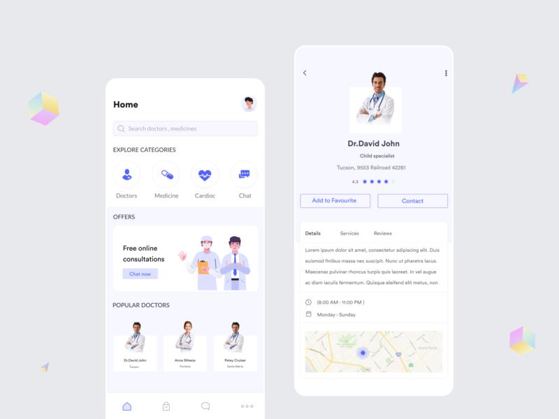 Healthcare app healthy coronavirus nurse appointment doctor app doctor healthcare health app health mobile app mobile ux ui