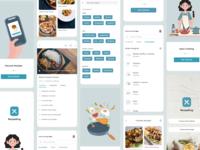 Recipe app screens - Recipe king cuisine food and drink salad drink food app cooking app nonveg veg mobile apps website logo recipe food mobile