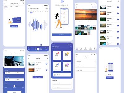 Converter app - Converto mobile app edit editor conversion merge logo cut audio files music convert mobile