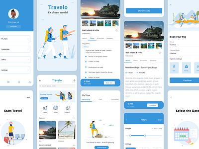Travel app concept adventure booking app hotel traveler explorer trip planner booking trip responsive design travel app traveling mobile