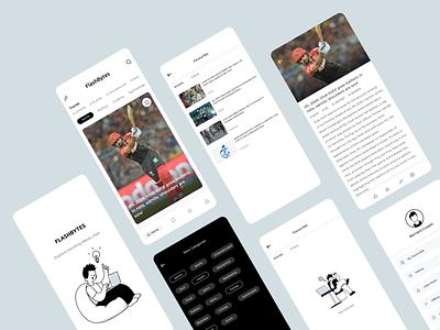 News app concept newspaper poster blog post tech sports mobile app mobile ui blog articles newsfeed newsletter newsapp