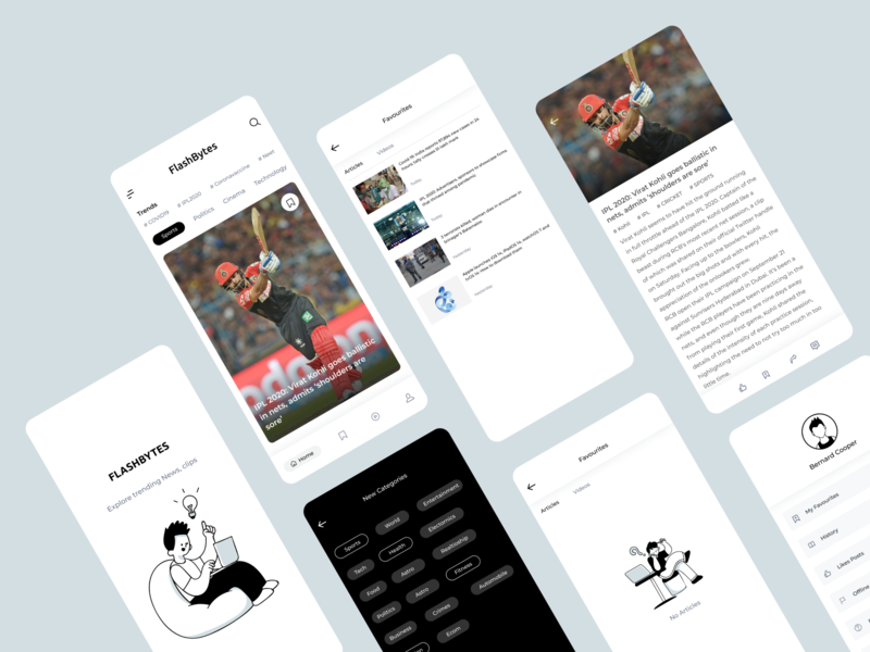 News app concept newspaper poster blog post tech sports mobile app mobile ui blog articles newsfeed newsletter newsapp