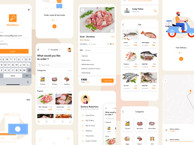 Delivery app - Meatstore meatstore delivery truck seafood mutton chicken meat booking app order booking booking order management food app food delivery store delivery app