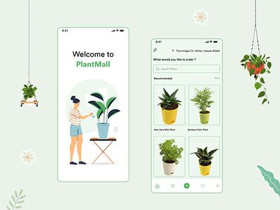 Plants app plant treehouse tree greenhouse green plants app mobile app plants uiux mobile