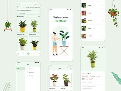 Plants app tree plants environment green app greenhouse mobile design mobile app plant soil seeds green planting plants app