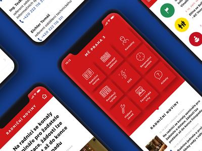 Praha 3 app design
