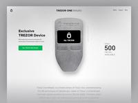 Trezor One Metallic - microsite header