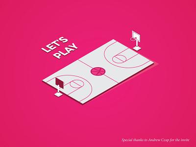 Let's Play isometric basket ball free throw basketball