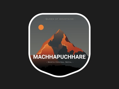 Machhapuchare patch sticker mountain mountains nepal nepali kathmandu design illustration
