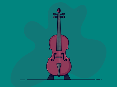Violin music fun colors icon design illustrator illustration