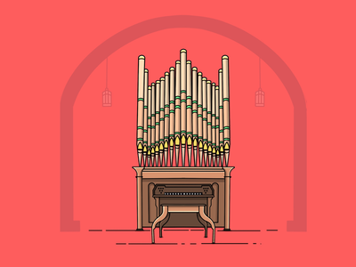Pipe organ design designer logo icon illustrator illustration