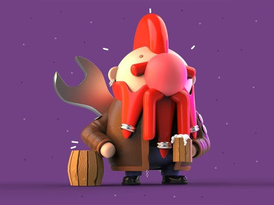 VDInk 09/31 vdink character design characters 3d illustration design mrolds cute creative inspiration mexico