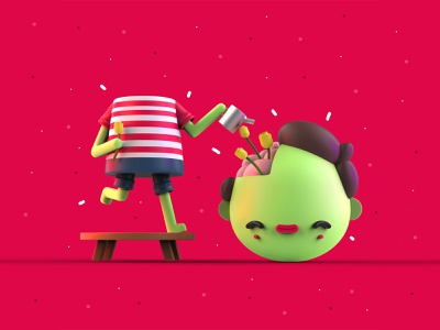 VDInk 19/31 vdink character design characters 3d illustration design mrolds cute creative inspiration mexico