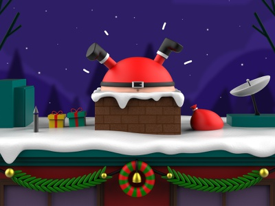 Oh oh Santa! christmas santaclaus character design characters 3d illustration design mrolds cute creative inspiration mexico