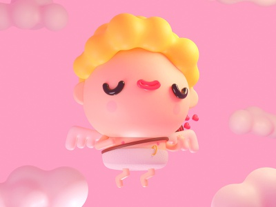 Valentine's Day character design characters blender kawaii cute inspiration creative mrolds illustration 3d valentinesday valentine