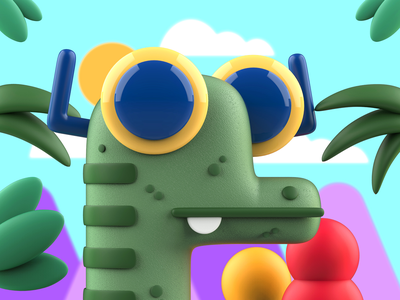Dino and the jungle mrolds creative mexico characters inspiration design cute characterdesign character illustration 3d