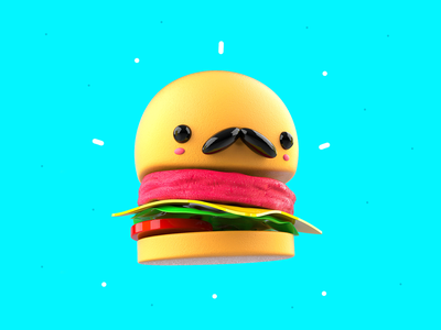 Don Burger blender burger creative inspiration mexico characters design cute illustration mrolds 3d