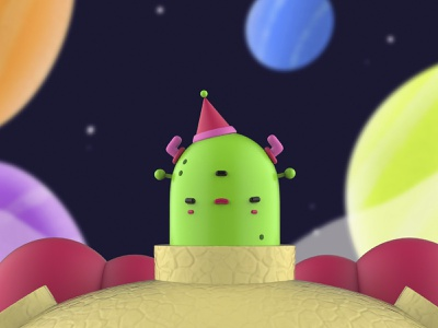 Angry Alien character design illustration cycles blender characters design inspiration creative cute 3d