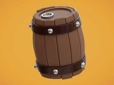 Game Icon Challenge: 11 Barrel blender barrel icon inspiration creative stylized cute illustration 3d