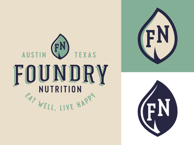Foundry Nutrition Variations pt. II branding natural austin eating food healthy health sticker badge patch logo logodesign