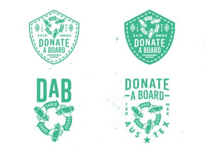Donate A Board charity donation donate skateboard skateboarding branding shirt sticker patch badge logo logodesign