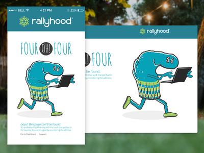 404 ui rallyhood mobile illustration error 404 webdesign web
