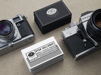 HMP Business cards photograpy photo videography video film austin production media eye mockup business cards